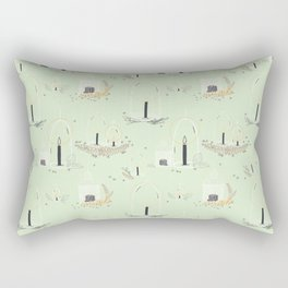 Fairy Land (mint) Rectangular Pillow