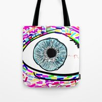 iris Tote Bags featuring Iris by Beyond Infinite