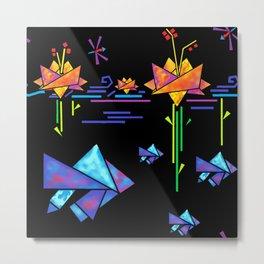 Folded Fishies Metal Print
