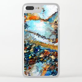 Agate Geode Abstract Clear iPhone Case
