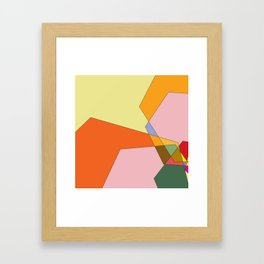 abstract mountains Framed Art Print