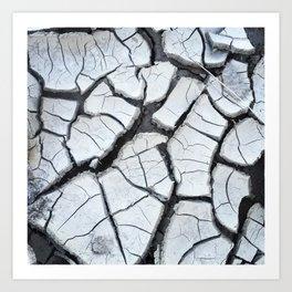 Cracked Clay Art Print