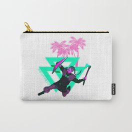 Vaporwave Viking Synthwave Ragnar Runes Carry-All Pouch