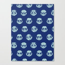 Polka Dot Pug Canvas Print