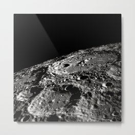 Moon Surface Crater Metal Print