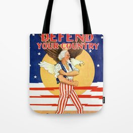 Defend your country Tote Bag