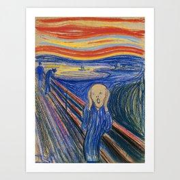 The Scream by Edvard Munch Art Print