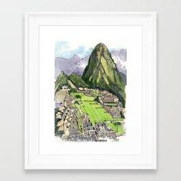 Machu Piccu, Peru Framed Art Print