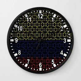 digital Flag (Colombia) Wall Clock