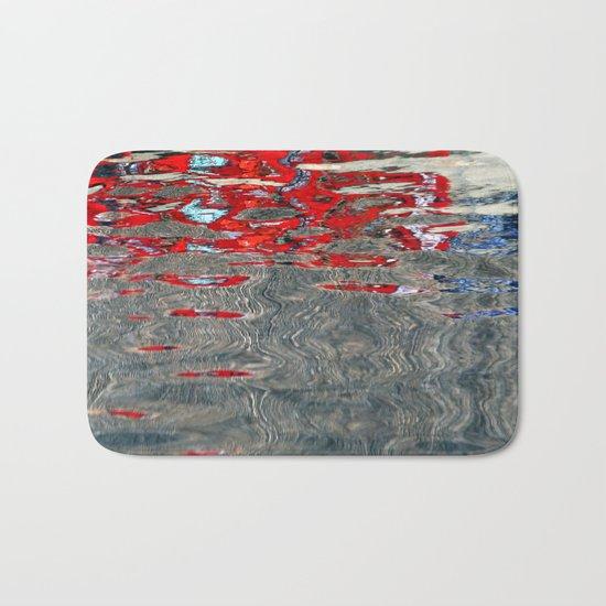 red water Bath Mat