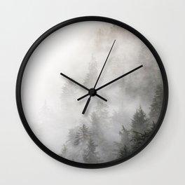 Lodgepole Fog Wall Clock