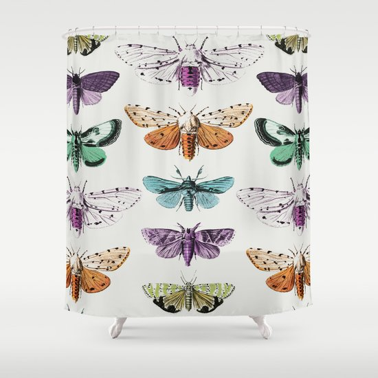 Techno-Moth Collection Shower Curtain
