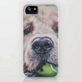 GOLDEN RETRIEVER dog portrait painting by L.A.Shepard fine art iPhone Case
