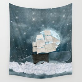 the sky whale Wall Tapestry