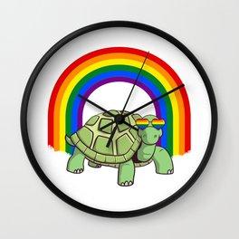 Gay Pride Turtle LGBTQ Wall Clock