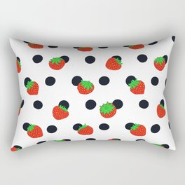 Polka dot and strawberries Rectangular Pillow