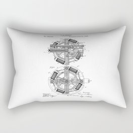 patent art Edison 1888 Phonograph Rectangular Pillow