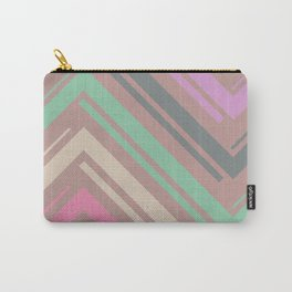 Mauve Zigzag Pattern Carry-All Pouch