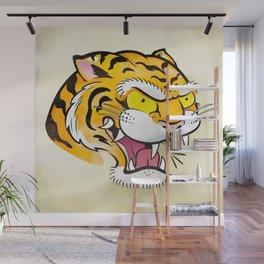 Tiger Tattoo Flash Wall Mural