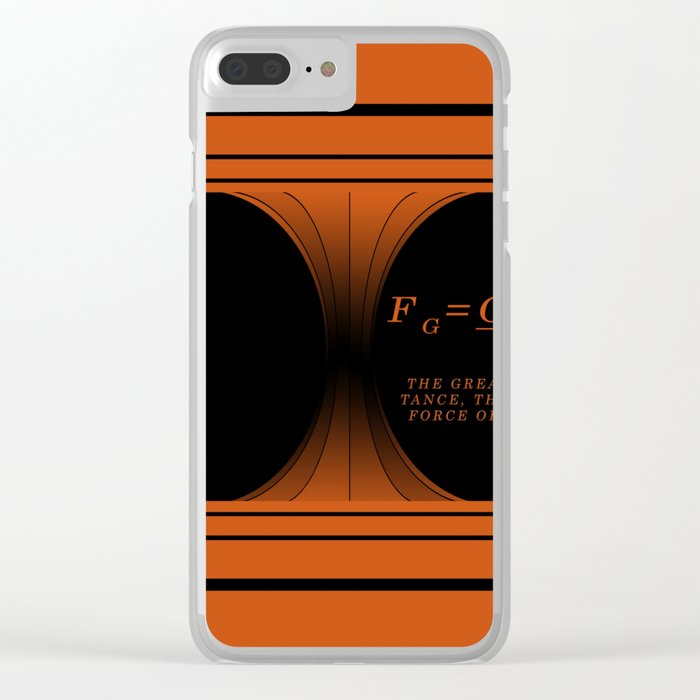 Black Hole black. Clear iPhone Case