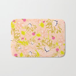 Energizing spring summer flowers Bath Mat