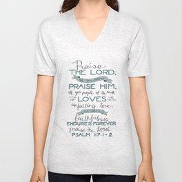 Psalm 117: 1-2 Unisex V-Neck