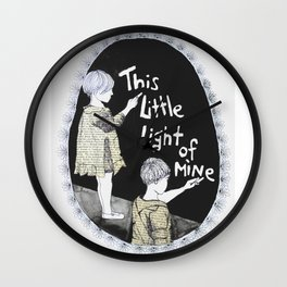 this little light of mine Wall Clock