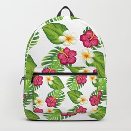 Tropical Flowers and Leaves Backpack