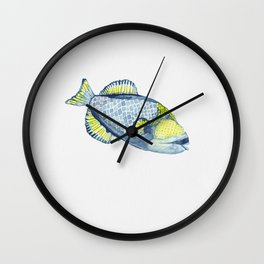 Tropical Titan Trigger fish Wall Clock