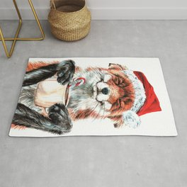Morning Fox Christmas Rug