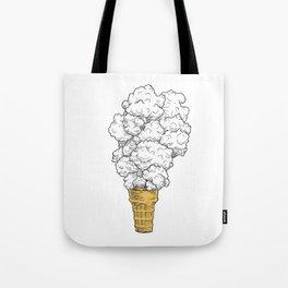 Volcano ice cream Tote Bag