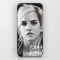 emma watson iPhone & iPod Skins featuring Emma Watson Portrait by Jeremy Snow Illustration
