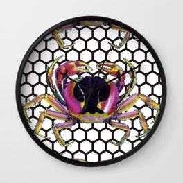 Lucky Crab Auspicious Hexagon Pattern Wall Clock
