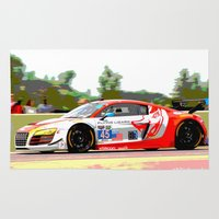 audi Area & Throw Rugs featuring Flying Lizard Audi R8 | Road America by Phil Schroeder Design
