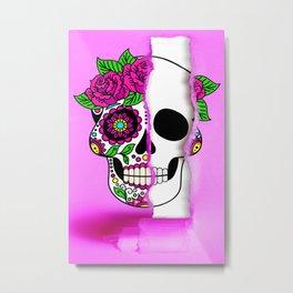 ripped beautiful skull facade Metal Print