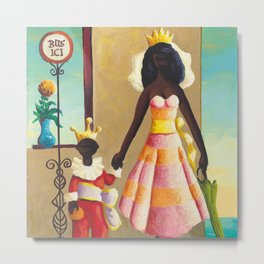 African American Masterpiece 'La Reine et Son Fils' by Orville Bulman Metal Print
