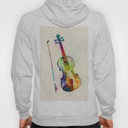Violin Abstract Watercolor Hoody