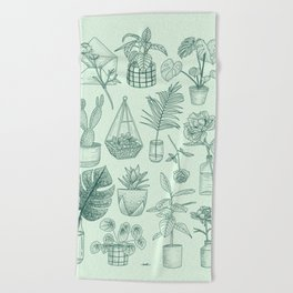 PLANTS LOVER Beach Towel