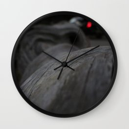 Curved tree Wall Clock
