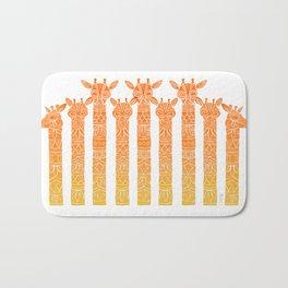 Giraffes – Orange Ombré Bath Mat