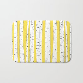 Aspen Forest - Yellow Bath Mat