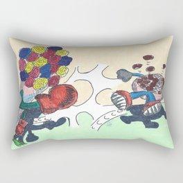 Flowers Versus Chocolate Rectangular Pillow
