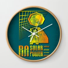 Ra Solar Power Wall Clock