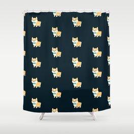 Formal Corgi Shower Curtain
