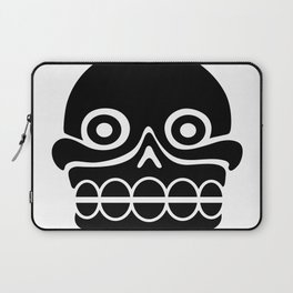 Aztec stamp with skull Laptop Sleeve