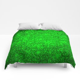 texture green mix  Comforters
