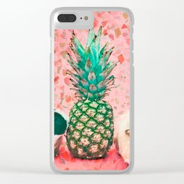 Guinea pig and pineapple Clear iPhone Case
