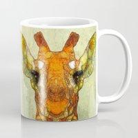 marley Mugs featuring abstract giraffe calf by Ancello