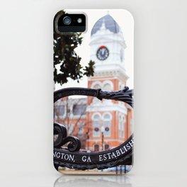 Covington, Georgia at Christmas iPhone Case
