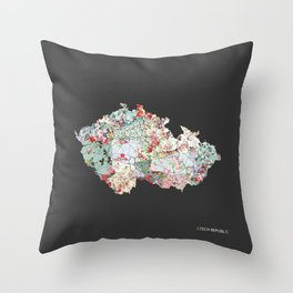 Czech Republic map #2 Throw Pillow